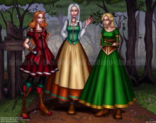 COLLAB: Medieval Girls by callisto-chan