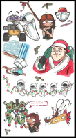 WALL.E Christmas doodles by PurpleRAGE9205