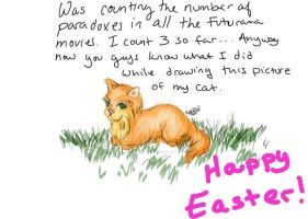 Easter Cat by cityprincess01