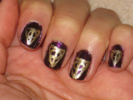 Deathly Hallows Nails by yellow-tulips