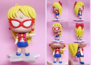 Sailor V (Sailor Moon) Custom Handmade Figure by bellakenobi