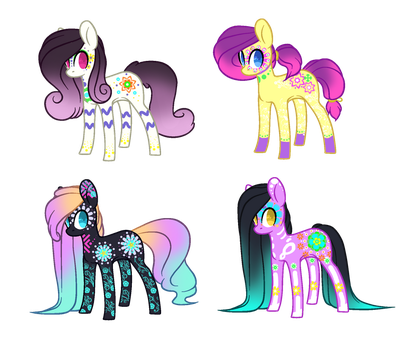 Day of the dead Pony Adoptables [CLOSED] by JustOurAdopts