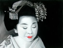 Geisha girl by classina