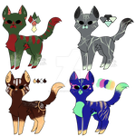 Adoptable Kitties [4/4 Open] by Artfullypretty
