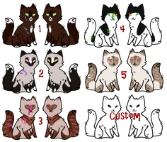 CLOSED Tribal/Non-Tribal Cats #2 by LillyofIndominus
