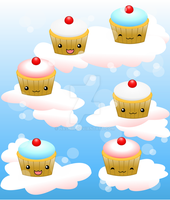 Cupcakes and Clouds by Nashiil