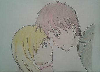 Anime Couple Drawing With Color By Pieman536 On DeviantArt