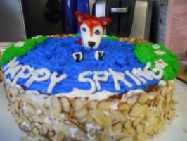 Red Husky Spring Cake by sfallen