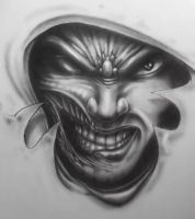 evil face design by karlinoboy