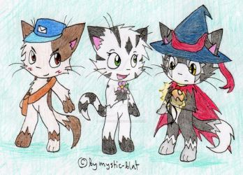 Neko and friends by mystic-blat