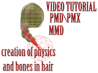 MMD\PMD TUTORIAL physics and bones in hair by Milionna