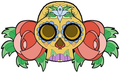 day of the dead skull by Roobydo