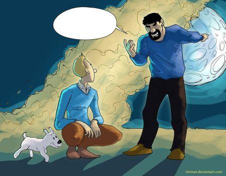 Tintin  Off To The Moon by nirman