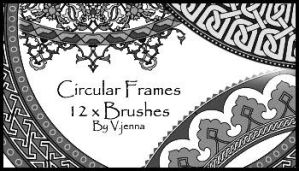 circular frames brushes by visualjenna