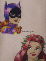 Batgirl and Poison Ivy '66 by Fires-storm