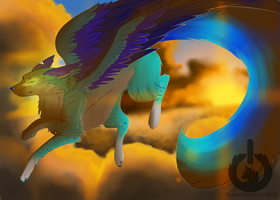 .: Wings of the sunset :. (Gift) by SweetElectricity