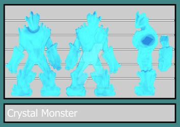 Updated Crystal Blue Monster Character Sheet by Avon-Cornish