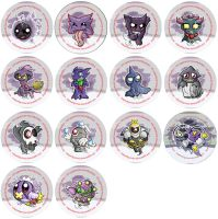 Ghost Pokemon Badge Set