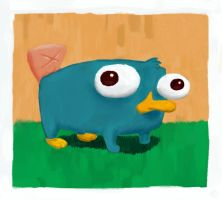 Baby Perry The Platypus by samwillan