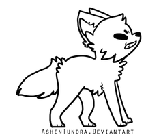 F2U Angry puppy lineart {OLD} by AshenTundra