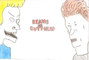 Beavis and butthead by grohlfan91
