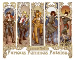 Sunset Val's Furious Femmes Fatales by Kanthara