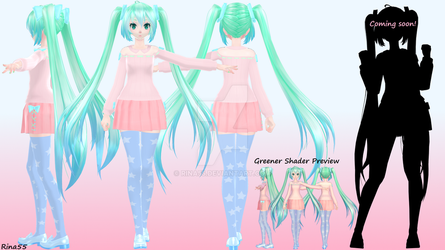 TDA Pastel Summer Miku - W.I.P Preview by Rina55