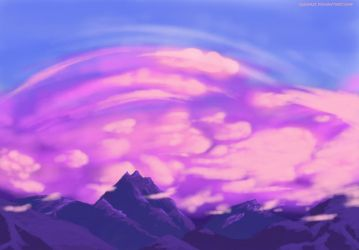 Landscape practice: Sunset Mountains View by igasoris