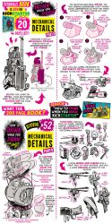 How to draw MECHANICAL DETAILS - KICKSTARTER BOOK! by STUDIOBLINKTWICE