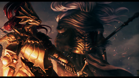 A loyal knight and a nameless king by MaruMun