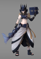 FF XIV Scholar character by shufie