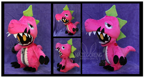 Extyrannomon Custom Plush by Nazegoreng