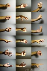 Hand - free reference photo set 01 by artists-reference
