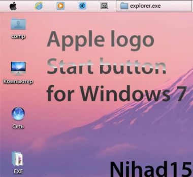 Apple Start Button for Windows 7 by Nihad15