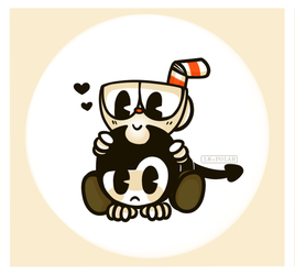 Cuphead and Bendy by LN-Polar