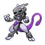 Armored Mewtwo v3: Battlesprite Action Pose by Othienka