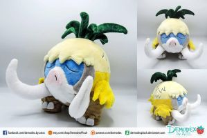 Alolan Mamoswine plush by DemodexPlush