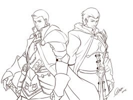 Alistair and Sebastian Vael by madcoffee