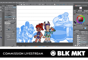 COMMISSION LIVESTREAM -- Join me on Picarto! by BLKMKT