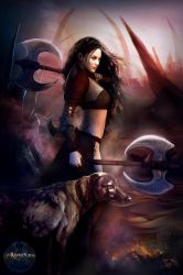 Barbarian Warrior, With Dog by Ravven78
