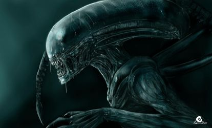 Alien covenant xenomorph + Speed Painting by ArtAG95