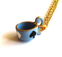 Alice Teacup Necklace by FatallyFeminine