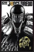 Judge Death from Judge Dreadd Sketch Cover by WEXAL