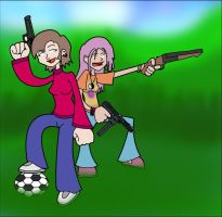 Soccer Moms n' Hippies packin' by spanio