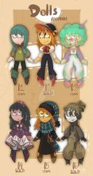 Dolls adoptables set price [OPEN 3/6] by gobithedogsadopts