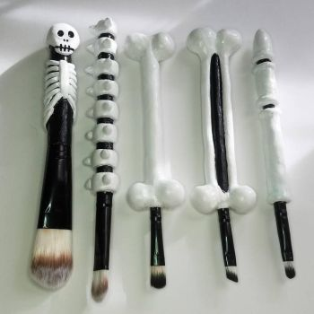 Bone makeup brushes by FreeRangeTaco