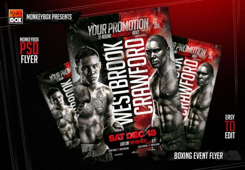 Boxing Event Flyer by AndyDreamm