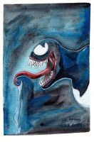 VENOM SPEED DRAWING WATER COLOR +VIDEO by IDROIDMONKEY