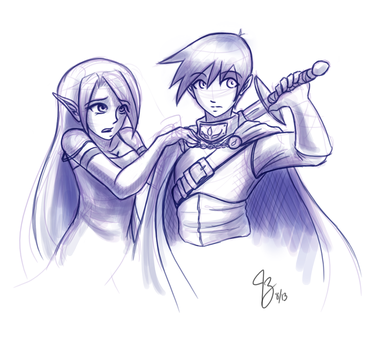 (Sketch) Couple by Claymore32