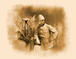 Explorer circa 1898, with strange stuffed plant by vonmeer